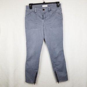 Madewell Gray fatigue Pants Moto Skinny